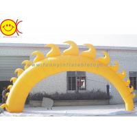 China 5m Yellow Sun Shape Oxford Fabric Inflatable Giant Arch With Blower For Event wholesale