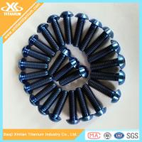 Quality Blue Anodizing ISO7380 Titanium Hex Socket Button Head Screws for sale