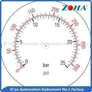 Multi Color Gauge Marking Labels , Custom Pressure Gauge Dial Marking Manufactures