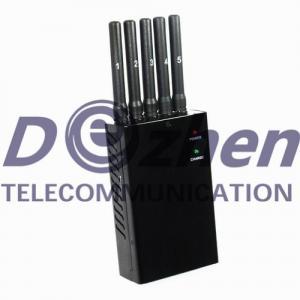 5 Antenna Portable Mobile Phone Jammer 2G 3G GPS WiFi Radius 5-15M Jamming Range Manufactures