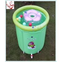 Barrel Shape Small Inflatable Baby Swimming Pools Phathalate Free Manufactures