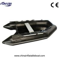 Black Small Size Rib Rigid Inflatable Boat For Familly Go Out Or Fishing Manufactures
