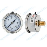 Fillable 1.5 Inch back stainless Pressure Gauge hydraulic with roll ring bezel Manufactures