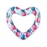 Colorful Durable Thick PVC Inflatable Swim Ring / Heart Pool Tube Floats Manufactures