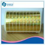 PET Waterproof Hologram Foil stickers , Gold Warranty Void Sticker Sheets Manufactures