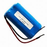 3.7V 4,000mAh Rechargeable Cylindrical Lithium-ion Battery Pack with Medium Discharge Rate Manufactures