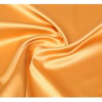Quality Lean Textile polyester shiny stretch satin fabric for sale