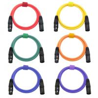XLR Microphone Cables Cords Male to Female Color Cables-6.5Feet/2Meters Balanced Snake Cord Manufactures