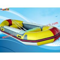 China Customized 0.9mm Inflatable Boat Toys PVC Tarpaulin Fabric River Rafting on sale