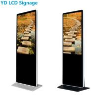 """Ultra Thin LCD Digital Signage Display , 49"""" Multi Touch Kiosk With Lock Manufactures"""