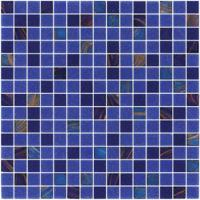 Sanding blue 20mm glass mosaic blend pattern for swimming pool building