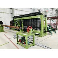 Fully Automatic Wire Coiling Machine , 100x120mm Gabion Mesh Machine PLC Control Simple Install Manufactures