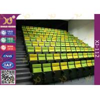 China Metal Lecture Hall Seating / Musical Hall Seats / Stacking Church Chairs with Book Net on sale