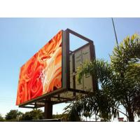 China Steel / Iron Material Outdoor Advertising LED Display Billboard 1R1G1B With Back Access on sale