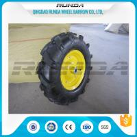 16inches Heavy Duty Rubber Wheels Yellow Color Lug Pattern Enamel Finish 6PR Manufactures