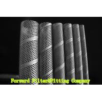 SUS304 / 304L SS Perforated Metal Tube , Filtration / Separation Tubes For Water Treatment Manufactures