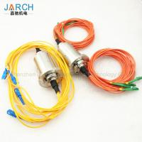 Double Channel Fiber Optic Rotary Joint / Fiber Optic Cable Joint With Stainless Steel House Manufactures