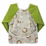6-24 Months Baby Teething Bibs , Wipe Clean Long Sleeved Bib With Pocket Manufactures