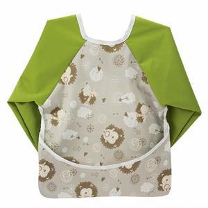 China 6-24 Months Baby Teething Bibs , Wipe Clean Long Sleeved Bib With Pocket on sale