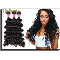 China Grade 7A Afro Big Curly , Brazilian Human Hair Weaving on sale