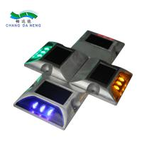 China 3leds Die Casting Aluminum Solar Road Studs IP68 Waterproof Solar Driveway Road Marker With Constant or Flashing on sale