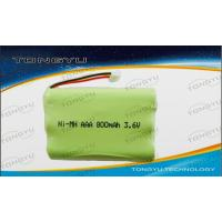 China 800mAh 3.6V Rechargeable Ni-Mh Battery Pack For Cordless Phone / Emergency Lighting on sale