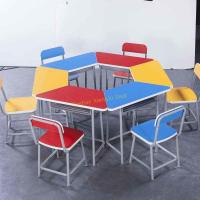 Durable Amusement Colorful Student Desk And Chair Set / Kids School Table Manufactures