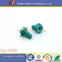 Buy cheap Green Zinc Hex Washer Head Type F Cutting Screws from wholesalers