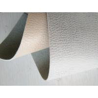 China Bonded Perforated Leather Fabric , Brown Leather Upholstery Fabric on sale
