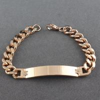Hot sale fashion stainless steel ID bracelet Manufactures