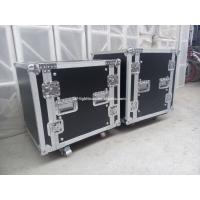 2U - 24U Black Plywood Shockproof Rack Case With Foam Honeycomb Inside Manufactures