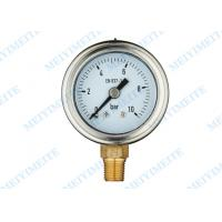 Professional High accuracy Hydraulic Pressure Gauge Manometer 40mm Size Manufactures