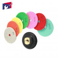 Round Resin Bonded Diamond Abrasive Pads 16 - 120mm Aperture OEM Service Manufactures