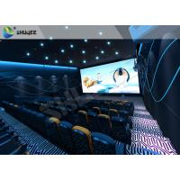 Special Effect  4D Cinema Equipment 120 People Electric System Motion Chairs Black Color Manufactures