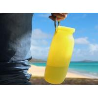 China Portable Outdoor Travel bpa free silicone collapsible water bottle 600Ml on sale