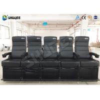 Luxury Motion Chair 5 Seats 4D Cinema System With Spray Air / Vibration Manufactures