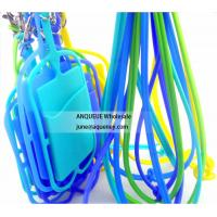 ANQUEUE NEW OEM silicone credit card holder wallet /smart phone card wallet with lanyard Manufactures