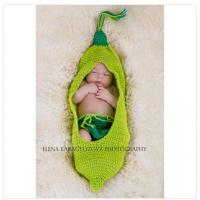 green beanie costume set handmade cotton baby Photography Prop Crochet Hats diaper cover Manufactures
