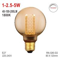 Buy cheap G80 Bulb, Deco Light, E27 LED Bulb, Fashionable Glass Bulb, 1800K Lamp, Dimmable from wholesalers