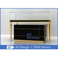 Luxury Black Glass Jewellery Display Cabinet With Logo Customized Manufactures