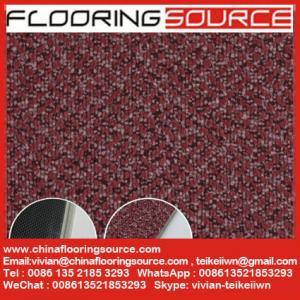 Commercial Vinyl Flooring Tiles Carpet Wooden Pattern Design 18x18; 24x24; 36x36 Manufactures