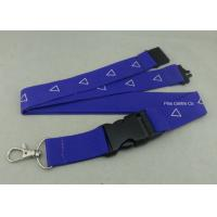 Factory Customized Sublimation Printing Promotional Lanyards , Polyester Material With Breakaway Buckle Manufactures