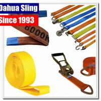 En 1492-1 Standard Endless Lifting Slings Yellow Lifting Straps Durable 1 Layer Manufactures
