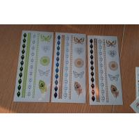 Quality DIY Fashion Gold / silver wrist temporary tattoos OEM easy move for sale