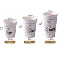 Wholesale 10oz Single Wall Food Grade Beverage Use Disposable Custom Printed Paper Coffee Cup Manufactures