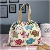 Cotton Lunch Cloth Drawstring Bags Pattern Printing High Durability Manufactures