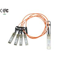 1 Meter 40G Breakout AOC Cable QSFP to SFP+ Fiber Cable OM1 OM2 Manufactures