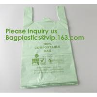 Heavy Duty Compostable T-shirt Handle Tie Plastic Roll Garbage Bags Trash Bags, t shirt carry bags, bagease, bagplastics Manufactures