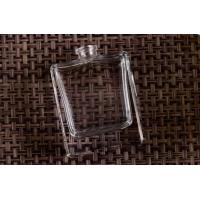 Clear Transparent Square Glass Custom Perfume Bottles , Glass Diffuser Bottles Manufactures