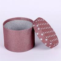China Round Pink Paper Tea Box Glitter , Cardboard Tube Boxes Full Color Printing on sale